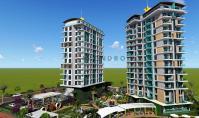 AL-537-1, Seniorenfreundliche Berg-Panorama-Wohnung (2 Zimmer, 1 Bad) mit Ausblick auf das Mittelmeer in Alanya-Mahmutlar