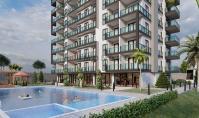 AL-542-4, Seniorenfreundliche Meerblick-Wohnung (2 Zimmer, 1 Bad) mit Balkon in Alanya-Avsallar