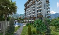 AL-528-4, Seniorenfreundliche Meerblick-Wohnung (2 Zimmer, 1 Bad) mit Berg-Panorama in Alanya-Ishakli