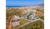 AL-608-1, Berg-Panorama-Wohnung (2 Zimmer, 1 Bad) mit Mittelmeer-Blick und Terrasse in Alanya-Oba
