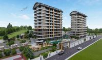 AL-629-1, Seniorenfreundliche Wohnung (2 Zimmer, 1 Bad) mit Wellnessbereich und Terrasse in Alanya-Avsallar